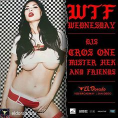 It's #wtfwednesday @eldoradobar tonight!! Get your beautiful buns in to El D tonight to catch Dj's @misterhek and @iamcros1 playing the goods!! No cover/21+/party starts at 9:30pm  #hiphop #90s #2000s #littleitalysd #eastvillagesd  #sdnightlife #sandiegoparty #sandiegonightlife #gaslampsandiego #gaslampdistrict #gaslampquarter #dtsd #lajolla #pacificbeach #missionbeach #oceanbeach #pointloma #hillcrest #northpark #delmar#carlsbad #downtownsd #padres #sdsu #aztecs #usd #ucsd #plnu #csusm…