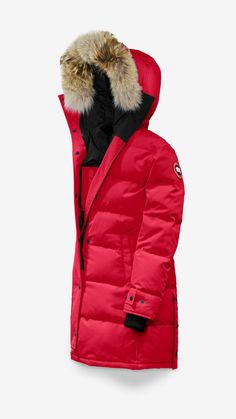 Canada Goose Shelburne Parka in Graphite Canada Goose Red, Canada Goose Women, Canada Goose Parka, Canada Goose Jackets, Down Parka, Parka Coat, Parka Style, Stylish Jackets