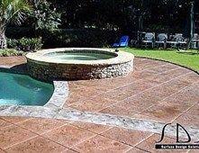 Wonderful Fleur De Lis Design Imbedded In A Stained Concrete Pool Deck. Artistic  Concrete Floors LLC Covington, LA | Concrete Picture Of The Week |  Pinterest ...