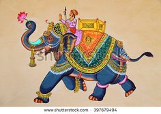 Find Traditional Indian Rajasthani Wall Painting Elephant stock images in HD and millions of other royalty-free stock photos, illustrations and vectors in the Shutterstock collection. Thousands of new, high-quality pictures added every day. Rajasthani Miniature Paintings, Rajasthani Painting, Rajasthani Art, Traditional Wall Paint, Indian Traditional Paintings, Traditional Art, Art Village, Mughal Paintings, Indian Art Paintings