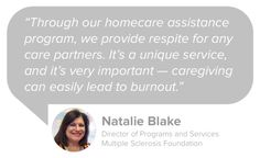 """The Multiple Sclerosis Foundation offers 22 free support programs, from help with emergency utilities to special requests with their """"Make-a-Wish"""" style Brighter Tomorrow Grant. We spoke with Natalie Blake, Director of Programs and Services, to learn more: http://blog.mangohealth.com/post/147398851797/interview-making-tomorrow-brighter-with-the"""