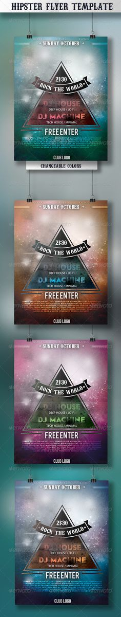 Dj Promote Flyer Vol 1 Techno house and Dj - campaign flyer template