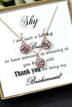 Bridesmaid gifts Wedding Jewelry Bridesmaid by thefabbridaljewelry