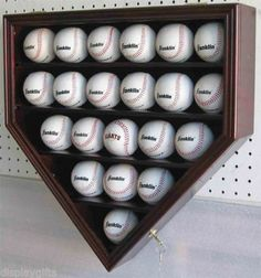21 Baseball Display Case Wall Cabinet Holder Shadow Box, w/UV Protection, Lockable Baseball Shelf, Baseball Bat Display, Home Plate Baseball, Baseball Boys, Baseball Gifts, Baseball Party, Baseball Players, No Crying In Baseball, Shadow Box