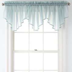 Liz Claiborne® Lisette Rod-Pocket Sheer Ascot Valance  found at @JCPenney