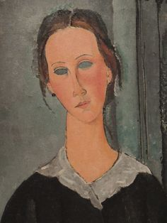 Amedeo Modigliani, detail from 'La Jeune bonne', ca. 1918 Albright Knox, Buffalo, NY