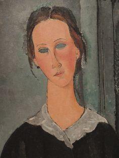 Amedeo Modigliani, detail from 'La Jeune bonne', ca. 1918 Albright Knox, Buffalo, NY