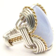 Handmade Wire Wrap Two Tone Sterling Silver/14kt Gold by @Sean Glass Glass Jackson, $112.50