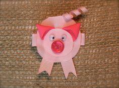 piggy! hair clip