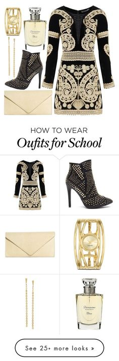"""""""#011"""" by jademitts on Polyvore featuring For Love & Lemons, Brooks Brothers, Christian Dior, Nine West, Lana Jewelry, gold, perfect, black, classy and Elegant"""