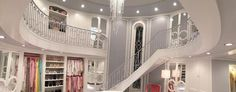 Inside the chanel's walk in closet
