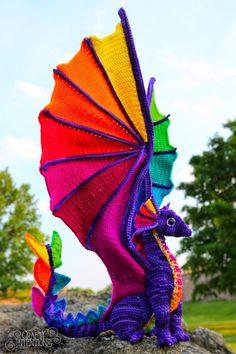 Crafty Intentions — Rainbow Pride Dragon Knitting PatternsCrochet For BeginnersCrochet Hair StylesCrochet Amigurumi Knit Or Crochet, Cute Crochet, Crochet Crafts, Crochet Projects, Crotchet, Knitting Projects, Crochet Dinosaur Patterns, Crochet Patterns Amigurumi, Crochet Dolls