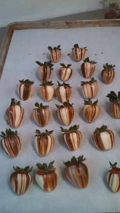 Stripped strawberries