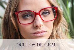 538dad7d1 Óculos de grau vermelho #Safira #ÉPraVocê #SafiraOnline #ÓculosdeGrau # Armações #SafiraEyeLine