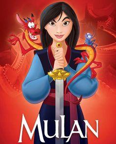 Mulan with Mushu and Cri-Kee