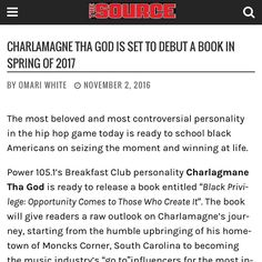 Salute to you can Pre Order my first book right now! Link in my bio! Charlamagne Tha God, Games Today, Hip Hop, In This Moment, Instagram Posts, Books, Life, Libros, Book