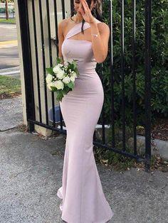 One Shoulder Mermaid Long Satin Bridesmaid Dresses Prom Dresses Peach Bridesmaid Dresses, Bridesmaid Dresses Online, Wedding Dresses, Ivory Wedding, Lace Bridesmaids, The Wedding Date, Cheap Wedding Dress, Bride Dresses, Dream Wedding