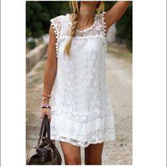 Boho Dress S-L boho dress with lace splicing. SZ S-L Dresses Mini