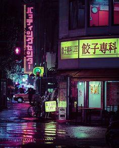 "Kabukichō Nights / 歌舞伎町 / The district known as ""Sleepless Town"" (眠らない街) #neotokyo #shinjuku #bladerunner #cyberpunk #rain #night #tokyo"