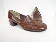vintage 1960 NATURALIZER Funster  brown leather  shoes  by june22, $22.08