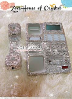 Bling And Sparkly White Office Desk Phone To By Oursonline 249 00