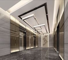 Modern Lift Lobby Design Ideas - More information Hotel Lobby Design, Elevator Lobby Design, Lobby Interior, Luxury Interior, Interior Architecture, Flur Design, Hall Design, Espace Design, Hotel Corridor