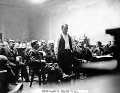 Another favorite stop on some of my tours.  But the question is-- was that *REALLY* John Dillinger who was shot beside (not behind!) the Biograph theater??? ------> The FBI manhunt to capture bank robber and escaped convict John Dillinger (pictured here in court) ended in an alley behind Chicago's Biograph Theater on July 22, 1934.