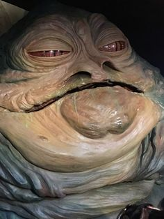 From the Star Wars Exhibit at Madame Tussauds London-- Jabba the Hut