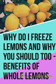 Limonoids present in whole lemons are anticancerous, anti bacterial, antiviral and even acts on weight gain. Whole lemons cleanse your liver and kidney and are antiinflammatory. learn more on what makes whole lemons the best thing to take every morning Freezing Lemons, Freezing Fruit, Freezing Vegetables, Veggies, Lemon Health Benefits, Water Benefits, Lemon Uses, Dips, Lemon Drink