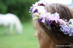 brudekrans med erteblomster juli
