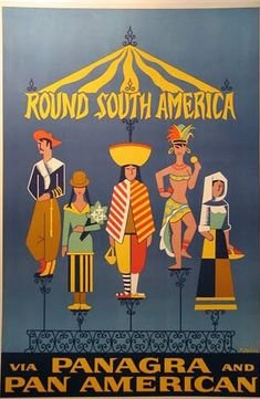 vintage travel poster pan america