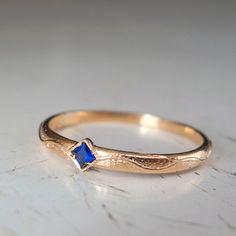 Blue sapphire Gold ring by ARDONN on Etsy, $100.00