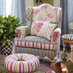 MacKenzie-Childs   Summerhouse Wing Chair