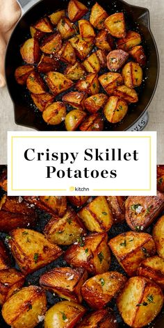 Best Fried Potatoes, Skillet Fried Potatoes, Fried Potatoes Recipe, Crispy Potatoes, Cheesy Potatoes, German Fried Potatoes, Roasted Potatoes, Vegetable Side Dishes, Vegetable Recipes