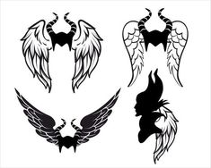 Maleficent Svg/Maleficent Witch Svg/Disney Witch Svg/Maleficent Wing Dxf/ Digital files/Svg File for Cricut/Witch Svg/Witch Dxf Malificent Tattoo, Maleficent Drawing, Maleficent Wings, Disney Maleficent, Disney Villains, Black Tattoos, Cat Tattoos, Ankle Tattoos, Arrow Tattoos