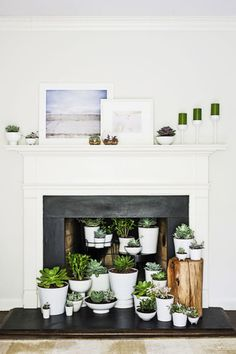 Nine creative ideas for an unused fireplace