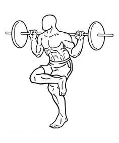 One Leg Barbell Squat 2 Leg Workouts For Mass, Best Leg Workout, Leg Training, Weight Training, Compound Leg Exercises, Squat Lift, Leg Curl, Legs