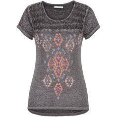 maurices Graphic Tee With Openwork Yoke ($29) ❤ liked on Polyvore