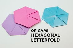Learn how to fold an Origami Hexagonal Letterfold! This useful origami hexagon is made with a rectangular sheet of paper, a fancy way to send a note!