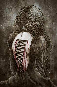 """For a dream I once desired I bequeth my sorrow and I regret to thee"" Randomly finished a drawing I randomly sketch few weeks ago, some of you saw . I Bequeth My Sorrow Dark Gothic Art, Gothic Fantasy Art, Emo Art, Goth Art, Arte Horror, Horror Art, Beautiful Dark Art, Dark Artwork, Dark Photography"