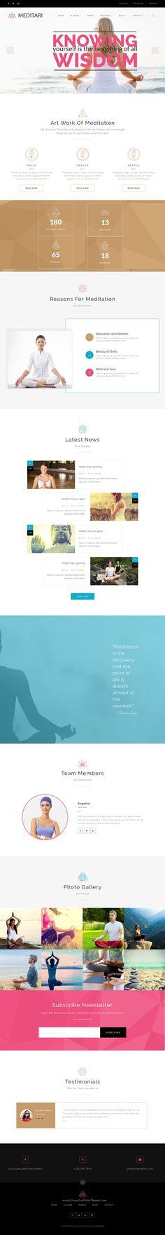 Meditari-Responsive HTML5 Template for Meditation, Fitness, Yoga, Sports, Gym…
