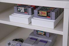 Set Of 4 BitLounger 16BITSN Storage For Super Nintendo (SNES) Retro Video  Game Console