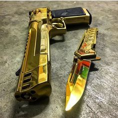 WEBSTA @ tacticare - All Gold Desert Eagle 50AE never goes out of style.. via @illmanneredgunrunner707