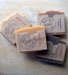 Craft Beer Soap Gift Set – Blue Ale, Porter, Pale Ale & Brown Ale | Men's Grooming | Brown Bag Soap Co. | Scoutmob Shoppe | Product Detail