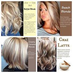 Ideas for blonde highlights Hair Color And Cut, Haircut And Color, Blonde Color, Blonde Highlights, Blonde Shades, Chunky Highlights, Corte Y Color, Pinterest Hair, Fall Hair