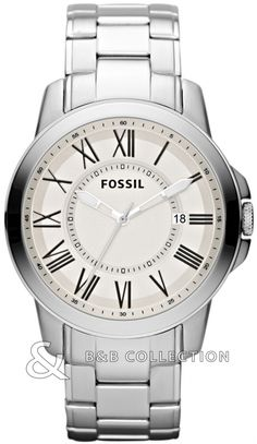 Shop for Fossil Men's Grant Stainless Steel Watch - White. Get free delivery On EVERYTHING* Overstock - Your Online Watches Store! Diesel Watches For Men, Fossil Watches For Men, Best Watches For Men, Women's Watches, Watches Online, Stainless Steel Watch, Stainless Steel Bracelet, Mens Watch Brands, Boyfriend Watch