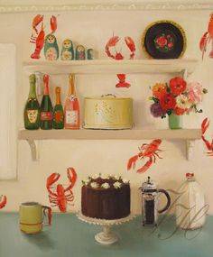 """Still Life The Devil's Food Cake"": Janet Hill"