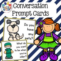 This resource includes 104 different prompt cards to help and encourage students to make conversation.Conversation is a hard skill for our students to master, especially when trying to start one. These prompt cards help to break the ice and encourage your students to feel more supported and confident when starting a conversation.