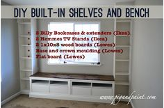 Pig and Paint: Nursery: Bench for the Built-Ins