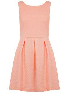 Coral spot jacquard prom dress - View All  - Dresses